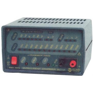 Zetagi Carica Batterie Automatico Con Scarica per Batterie Ni-Cd, Ni-MH, Li-Ion