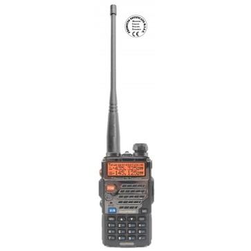 Baofeng Dual Band VHF 144-146MHz / UHF 430-440MHz, 128ch, Potenza 8/5/1Watt, tone, shift, DTMF