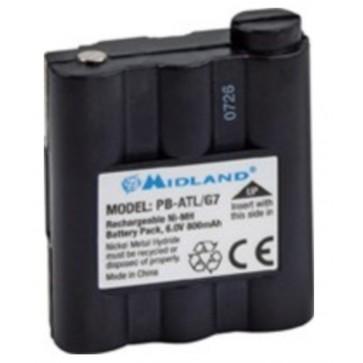 CTE Batteria per Midland G7, Atlantic - 6V 800maH Ni-MH