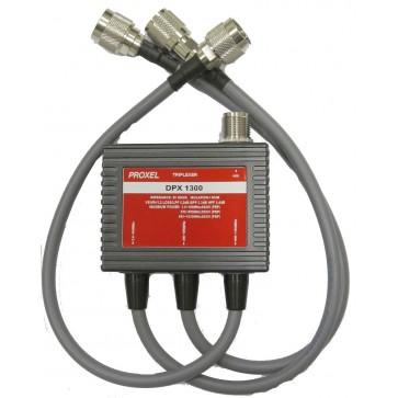 Proxel Triplexer 1.6-160MHz/350-550MHz/850-1300 Isol 60dB Conn N-f (PL-Nm-Nm)