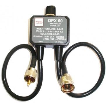 Proxel Duplexer 1.3-60 (300W) 125-470 (300W) Isol 60db Conn PL (Vhf) N (Uhf)