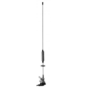 Proxel High Quality UHF Collineare 4dB, Stilo Acciaio, Cavo 5mt Base Prof.