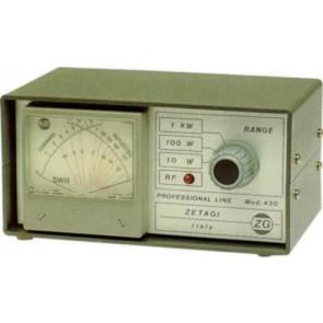 Zetagi Rosmetro E Wattmetro Professional Line 120-500 Mhz Strumento Di Precisione