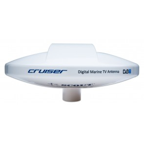 Antenna TV/FM/DAB omnidirezionale 40-860MHz 0-18dB 12-24V x 50 mA D 25 cm fornita con SEA-BOOST amplificatore a basso rumore