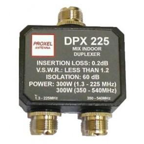 Proxel Duplexer 1.3-225 (300W) 350-540 (300W) Isol 60dB Conn PL