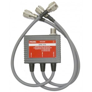Proxel Triplexer 1.6-60MHz/110-160MHz/350-570MHz Isol 60db Conn Nf (PL-PL-Nm)
