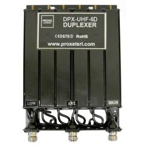 Proxel Duplexer 430-450 MHz, Connettore N, da 6 Cavità, 5MHz, 30W