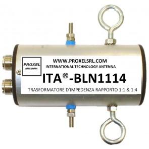 ITA® Balun Rapporto 1:1 & 1:4 con coppia di Isolatori ITA®-ISO in dotazione