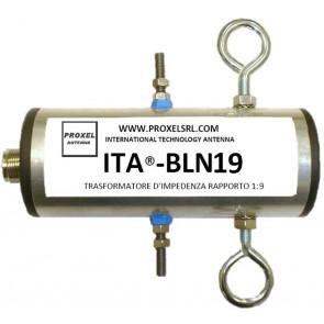 ITA® Balun Rapporto 1:9 con coppia di Isolatori ITA®-ISO in dotazione