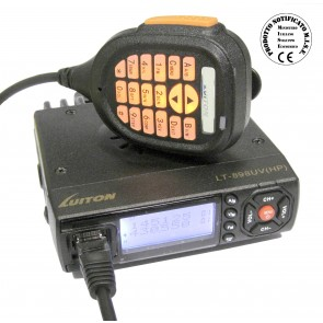 Luiton Dual Band (Versione HP) VHF 144-146MHz / UHF 430-440MHz, 128ch, Potenza 20/10/5Watt