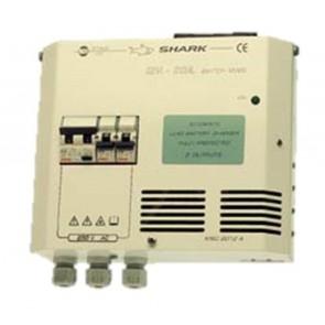 Zetagi Caricabatterie Switching per Uso Nautico + Quadro 14,3V 20A, 2 Uscite