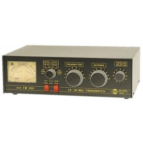 Zetagi Transmatch 1.5-30MHz 500W AM Rosmetro Wattmetro ed Antenna Matcher